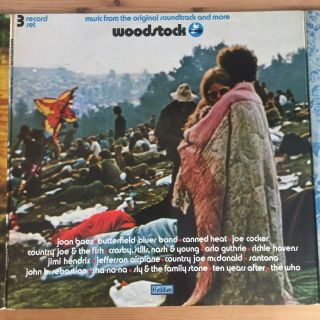 Woodstock 3 X Lp Rare French 1st Press 1970 Near