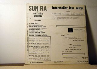 SUN RA Arkestra LP Interstellar Low Ways 1967 El Saturn rare 3