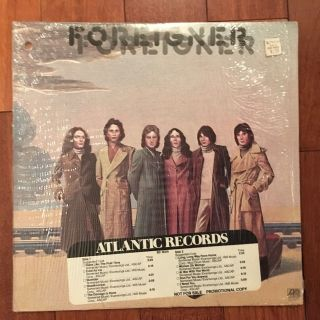 Foreigner S/t Self Titled Lp Vg,  Shrink Promo Timing Strip Sd 18215 Ice