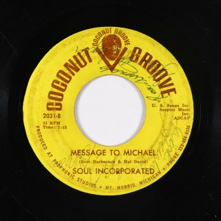Northern Soul 45 - Soul Incorporated - My Proposal - Coconut Groove - Autograph