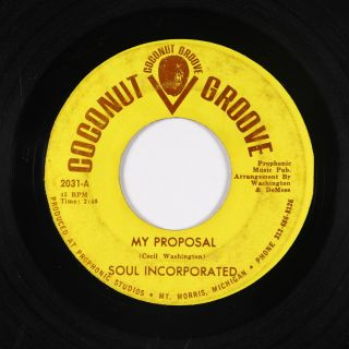 Northern Soul 45 - Soul Incorporated - My Proposal - Coconut Groove - autograph 2