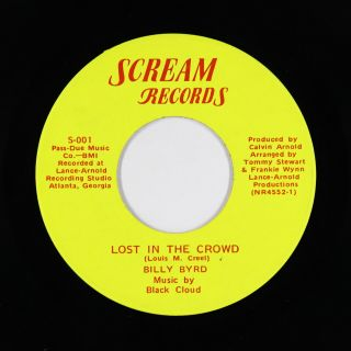 Crossover Soul Funk 45 - Billy Byrd - Lost In The Crowd/silly Kind - Scream Vg,
