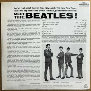 THE BEATLES MEET THE BEATLES US ORIG ' 64 CAPITOL MONO 1ST PRESS FACTORY 3