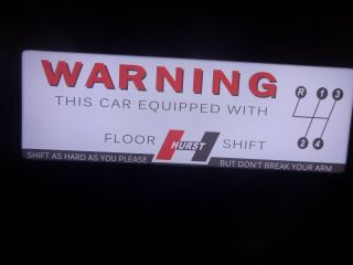 Hurst Shifters Lighted Sign