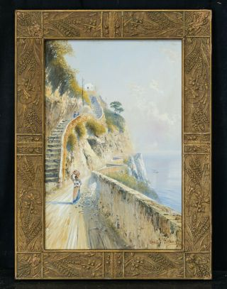 York Listed Artist Louis Comfort Tiffany (1848 - 1933) Watercolor/gouache