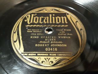 Robert Johnson Vocalion 3416 Kind Hearted Woman Blues Take 2 Terraplane Blues 78