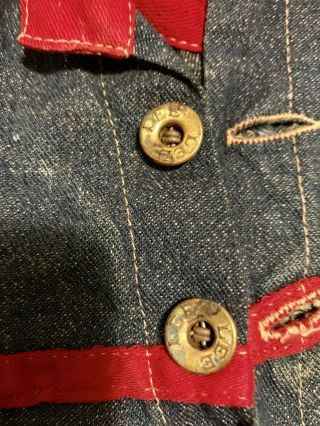 Composition BUDDY LEE Doll Rare Early Denim Jumpsuit Coveralls 1920s Vintage 11