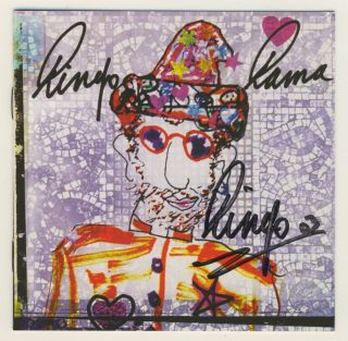 "The Beatles / Ringo Starr /hand - Signed "" Ringo Rama "" Cd / Perry Cox Loa"