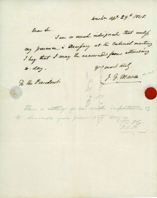 James Knox Polk Signed Letter To And From His Ag John Y Mason Psa Dna