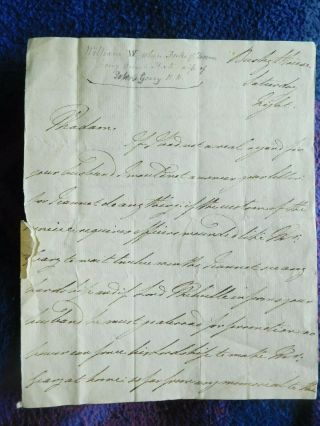 King William Iv Rare Hand Wrtten And Signed Letter