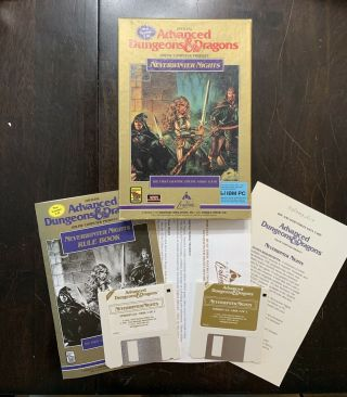 Neverwinter Nights America Online Disks & Rule Book & Ssi Ad&d Version 2