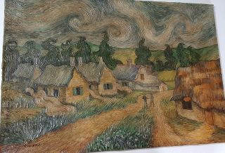Landscape Of High Relief,  Oil On Old Canvas,  Old Master,  Rare Vincent