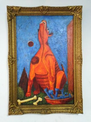 Rufino Tamayo Old Painting Oil On Canvas