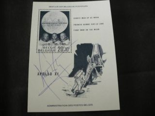 Apollo 11 Sheet Orig.  Signed Neil Armstrong,  Space