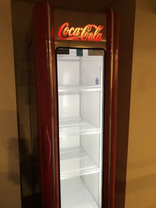 Coke Fridge Tall Red