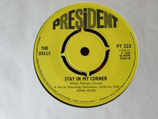 The Dells.  Stay In My Corner/its Not Unusual.  Pt223 President.  1968 Ex Rare.