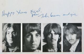Beatles - UK White Album SIGNED BY JOHN LENNON 1968 1st Press 100 Geniune 2