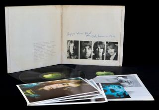 Beatles - UK White Album SIGNED BY JOHN LENNON 1968 1st Press 100 Geniune 6