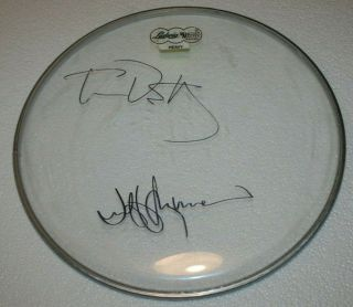 Tom Petty Jeff Lynne Hand Signed Autographed Drumhead W/coa - The Heartbreakers