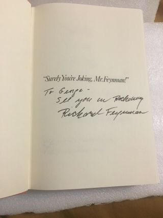 "Richard Feynman Signed Book ""surely You're Joking,  Mr.  Feynman """