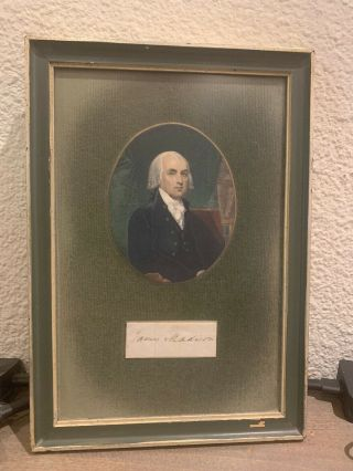 James Madison Autograph Authenticated President