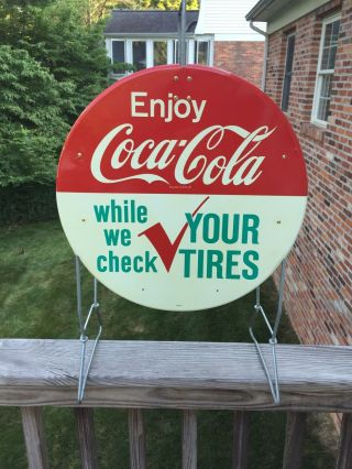 Tire Rack Sign Coca Cola.  Gas And Oil