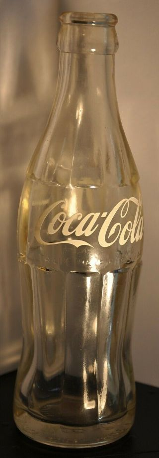 Coca Cola Acl 190ml Embossed Transition Bottle Japan 1962 Coke Bottle