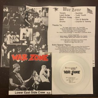 "Warzone Lesc 7"" Clear /300 Youth Of Today Gorilla Biscuits Burn Madball Nyhc Lp"