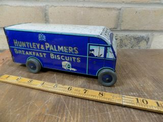Scarce Huntley & Palmer Tribrek Delivery Truck Biscuit Tin C1937 Toy