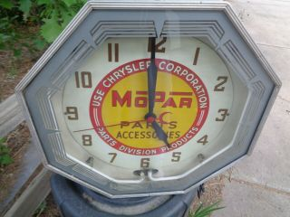 Mopar Dealership Neon Clock,  Running