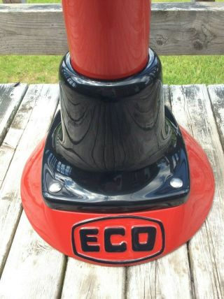 OLD ECO AIR METER TIREFLATOR WITH POST AND HEAVY STABLE BASE RED INDIAN COLORS 10