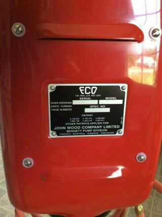 OLD ECO AIR METER TIREFLATOR WITH POST AND HEAVY STABLE BASE RED INDIAN COLORS 12