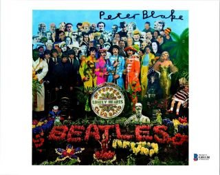 """Peter Blake """" The Beatles """" Autographed Photo Beckett Authentication"""
