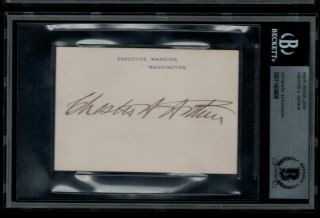 Chester A Arthur D1886 Signed Executive Mansion Card Auto President White House