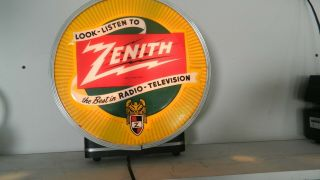 Zenith Radio - Television Light Up - Reads - Sign