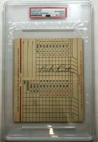Babe Ruth Signature / Autograph Psa/dna Certified Authentic