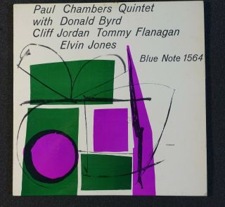 Paul Chambers Quintet With Donald Bird,  Cliff Jordan,  Flanagan.  Ear.  Dg.  Rvgs.  W63 Br