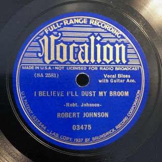 Blues Robert Johnson Vocalion 03475 Dust My Broom (elmore& Clapton) / E,