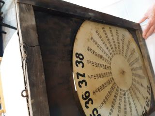 1920 ' s Weed Tire Chains Tin and Wood Frame Sign with old gas pricing 10