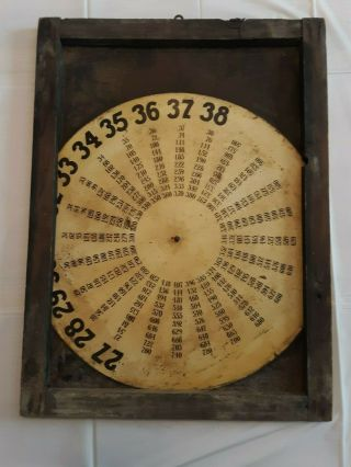 1920 ' s Weed Tire Chains Tin and Wood Frame Sign with old gas pricing 2