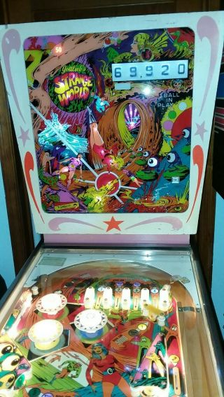 Gottlieb Strange World 1978 Pinball Machine.  Sample Model,  Early Production.
