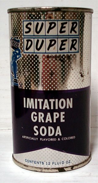 Duper Imitation Grape Soda - 12 Oz.  Flat Top Can - Aurora,  Oh