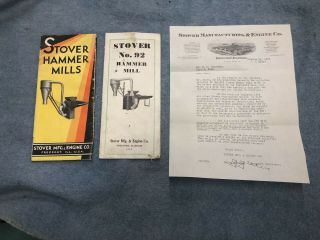 32 33 Stover No.  88 91 92 93 Hammer Mill Mfg & Engine Co Sales Brochures Letter