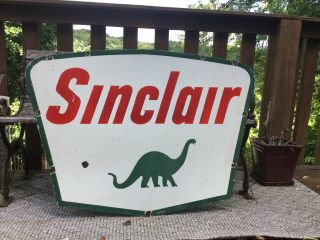 1961 Sinclair Double Sided Porcelain Sign 2