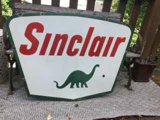 1961 Sinclair Double Sided Porcelain Sign 5
