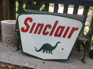 1961 Sinclair Double Sided Porcelain Sign 6