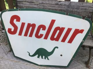 1961 Sinclair Double Sided Porcelain Sign 7