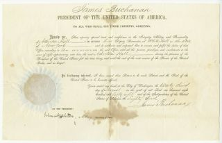 James Buchanan Signed Postmaster Appointment.