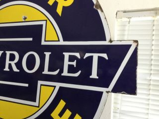 'Chevrolet Service' Porcelain 2 sided Dealership Sign 6