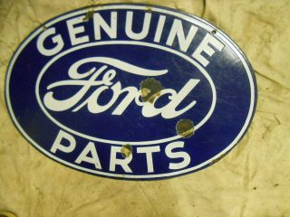 Ford Parts Sign Porcelian Double Faced